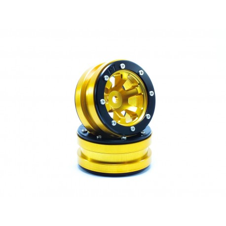 Beadlock Wheels PT- Claw Gold/Black 1.9 (2 pcs)