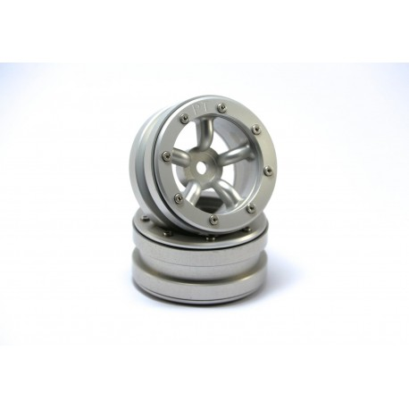 Beadlock Wheels PT-Safari Silver/Silver 1.9 (2 pcs)