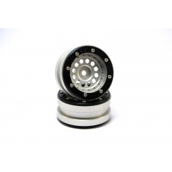 Beadlock Wheels PT-Bullet Silver/Black 1.9 (2 pcs)