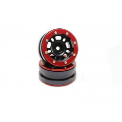 Beadlock Wheels PT- Distractor Black/Red 1.9 (2 pcs)