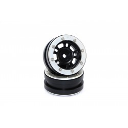 Beadlock Wheels PT- Distractor Black/Silver 1.9 (2 pcs)