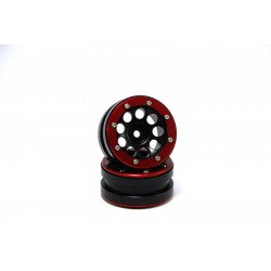 Beadlock Wheels PT- Ecohole Black/Red 1.9 (2 pcs)
