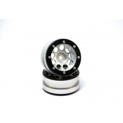 BEADLOCK WHEELS PT-ECOHOLE SILVER/BLACK 1.9 (2 PCS)