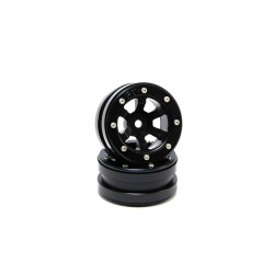 Beadlock Wheels PT- Claw Black/Black 1.9 (2 pcs)