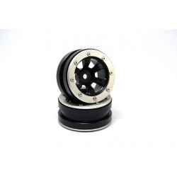 Beadlock Wheels PT- Claw Black/Silver 1.9 (2 pcs)
