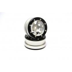Beadlock Wheels PT- Claw Silver/Black 1.9 (2 pcs)