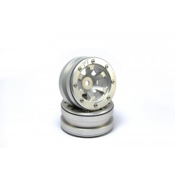 Beadlock Wheels PT- Claw Silver/Silver 1.9 (2 pcs)