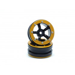 BEADLOCK WHEELS PT-SAFARI BLACK/BLACK 1.9 (2 PCS)